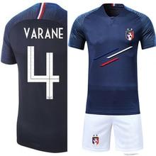e52c5c1433e Men adult Boys Soccer Sets France 2 Stars custom Print Training game Jerseys  Kids Football Shirts