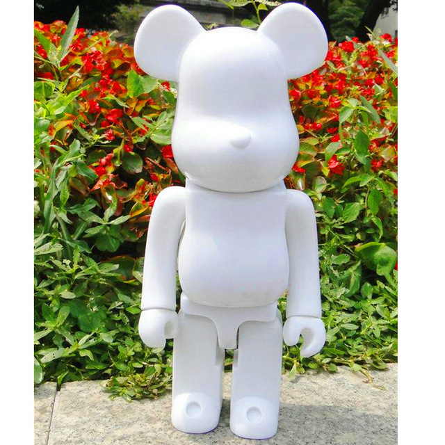 553035ed 11inch 28cm 400% bearbrick bear@brick DIY Paint PVC Action Figure White  Color With Opp Bag