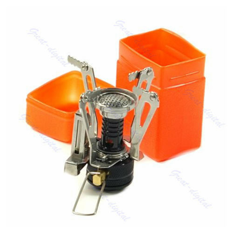 Hot Sale Portable Outdoor Picnic Foldable Gas Quemador Camping Mini Ultralight Steel Stoves Burners Outdoor Equipments EDC Tools
