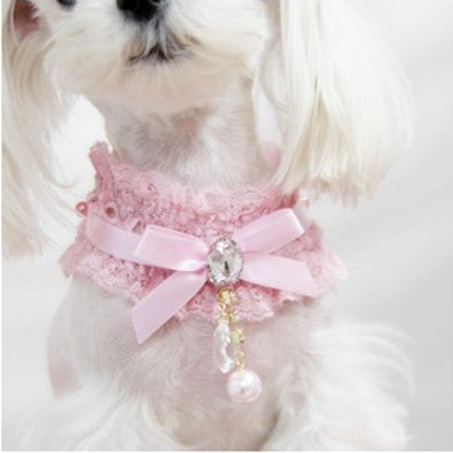 Fantastic Necktie Bow Adorable Dog - Adjustable-Bow-Tie-With-Pearl-Dog-Collar-Cat-Pet-Cute-Puppy-Kitten-Necktie-Pink-Collar-for  Pic_562350  .jpg