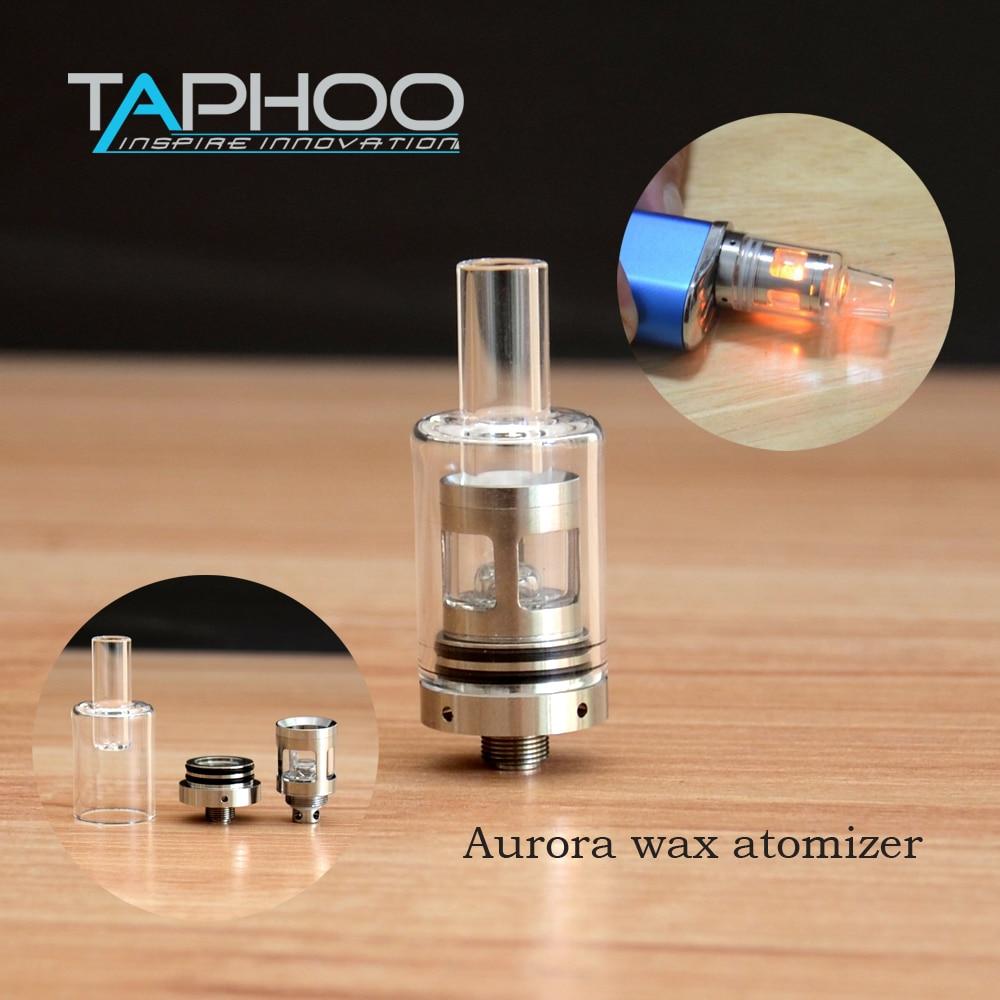 TAPHOO Glass Aurora Wax Atomizer Tank Wax 510 Thread Starter Kit Quartz Boiler Core Rapid Heating Coils