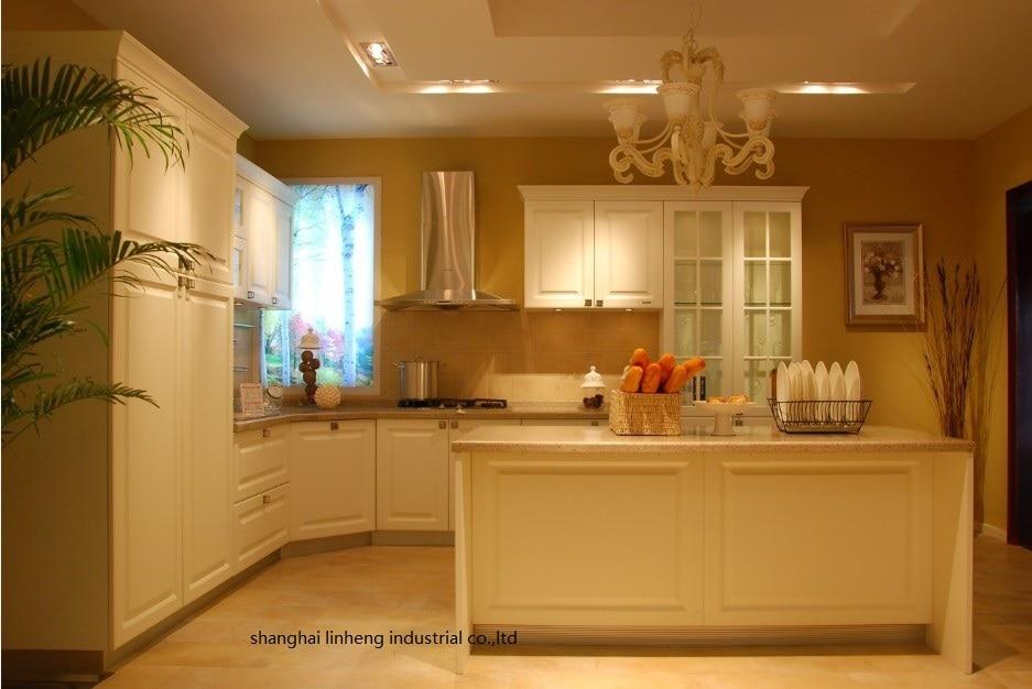PVC/vinyl kitchen cabinet(LH PV079)-in Kitchen Cabinets ...