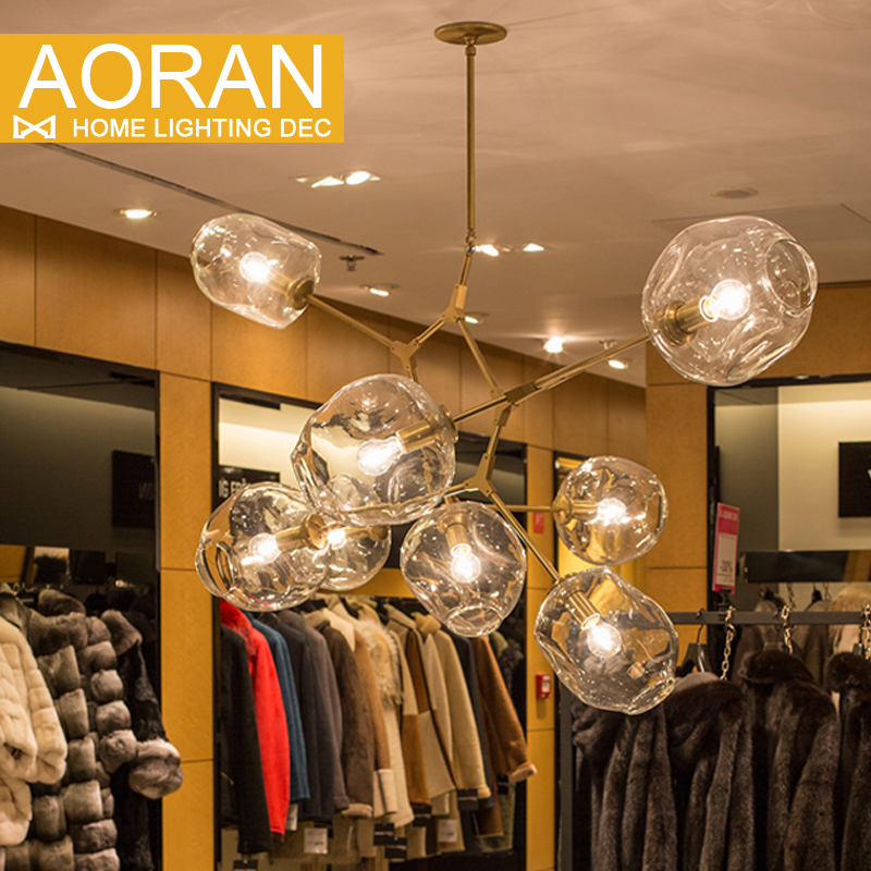 ФОТО New style designs Chandeliers light for room Black painted  Gold painted Chandeliers lamp with options color glass