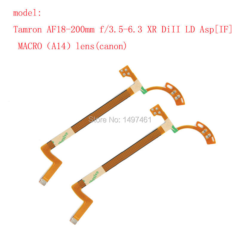 2Pieces Lens inner Aperture and shutter Flex Cable for Tamron AF18-200mm f/3.5-6.3 XR DiII LD Asp[IF] lens (Canon)