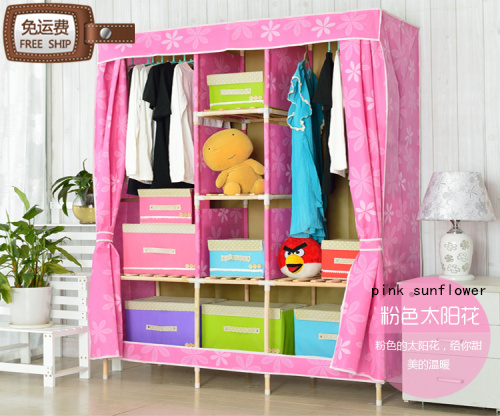 Superbe Free Shipping Oxford Cloth Wardrobe Simple Folding Fabric Wardrobe Closet  Wardrobe Wood Wooden Wardrobe Children