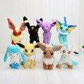 """8pcs 6.5"""" Pikachu Plush Leafeon Glaceon Eevee Jolteon Vaporeon Flareon Espeon Umbreon Plush Toy"""
