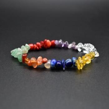 7 chakra natural stone crystal lapis lazuli tiger eye stone Healing Balance Colored Stone Bracelet dropshipping 1