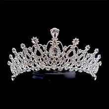 Хрустальный обруч Ювелирная диадема Золушка сделать над тиара тема принцесс Пром Prop grandдочки подарки корона тиара