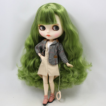 ICY Neo Blythe Doll Vintage Green Hair Jointed Body 30cm
