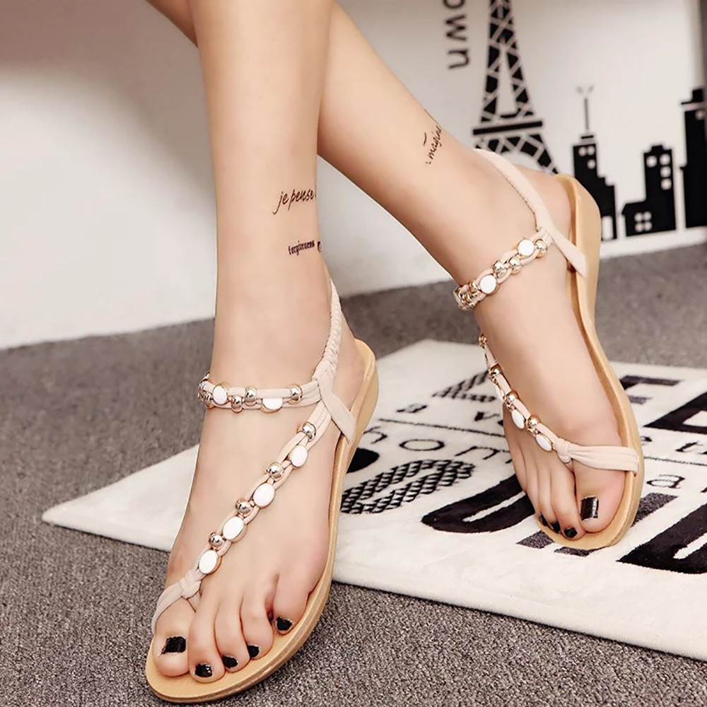 New summer shoes women fashion flat women Sandals Leisure Bohemia Ladies beach Flip Flops Soft casual female Sandals shoes