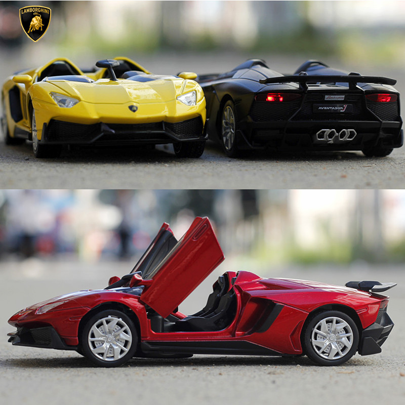 1 32 free shipping Aventador Alloy Diecast Car Model Pull Back Toy Car model Electronic Car
