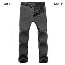 Новинка, Зимние флисовые штаны для мужчин, для улицы, водонепроницаемые, для походов, кемпинга, походов, лыж, мужские спортивные брюки для женщин