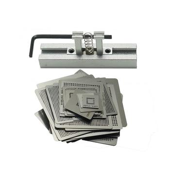 47pcs/set Game Consoles Directly Heating BGA Stencil Add Reball Kit for XBOX 360 CPU PS3-CPU WII GPU CXD2949CGB bga reball station holder jig 3 for ps3 gpu cpu cxr714120 stencils kit 0 6 balls 1 vacuum sucking pen