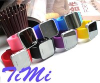 New Jelly Stylish LED Digital Date Mix Color Sport Watch Silicone Watch Cool