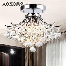 K9 lámparas de Cristal LED lámparas LED moderna 3 armas E14 Cristal candelabros comedor sala de estar decoración del hogar
