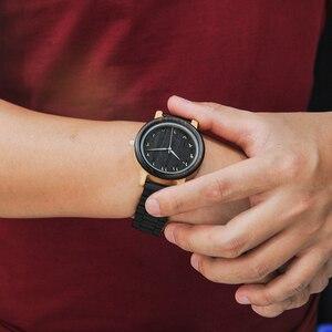Image 4 - BOBO ptak zegarek dla pary drewna zespół zegarek mężczyźni reloj hombre etui bambusowe nazwa wygrawerować Grooms prezent w pudełku Dropshipping dostosuj
