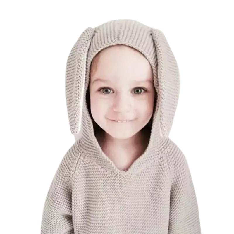 Baby Sudaderas For Girls Boy Clothes Spring Antumn Kids Knitwear Rabbit Jumper Pullover Cute Children Sweater Jacket