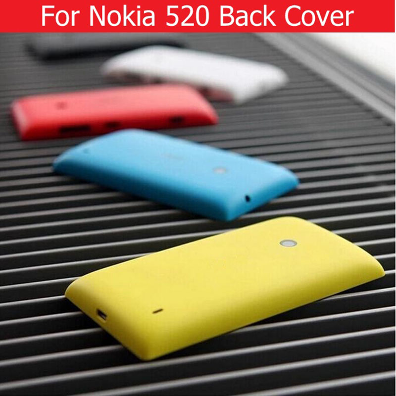 100% New Back Cover For Nokia 520 Back Battery Housing Door For Microsoft Lumia Nokia 520 Rear Cover Without Logo +1X Film Free