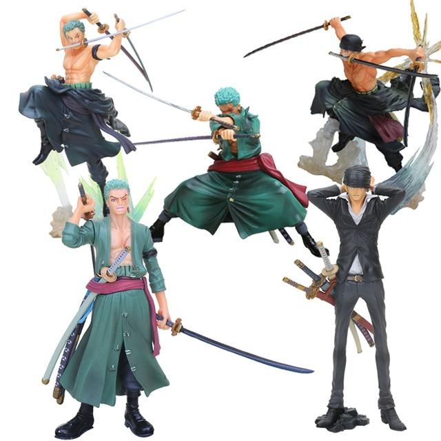 アニメワンピースフィギュアロロノア · ゾロアクションフィギュアバトルバージョンrengokuおにぎりゾロpvcモデル人形13 26センチメートルおもちゃ