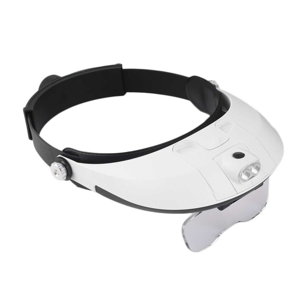 New Fashion 2 Led Headband Glasses Illuminated Magnifier Loupe Single/bi-plate 11 Magnifications New Dropshipping 2019 New Hot Agreeable To Taste Outdoor Tools