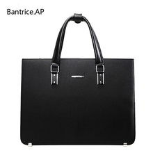 New High Quality Leather Men Laptop Briefcase Bag 14 Inch Computer Bags Handbag Business bag Fashion