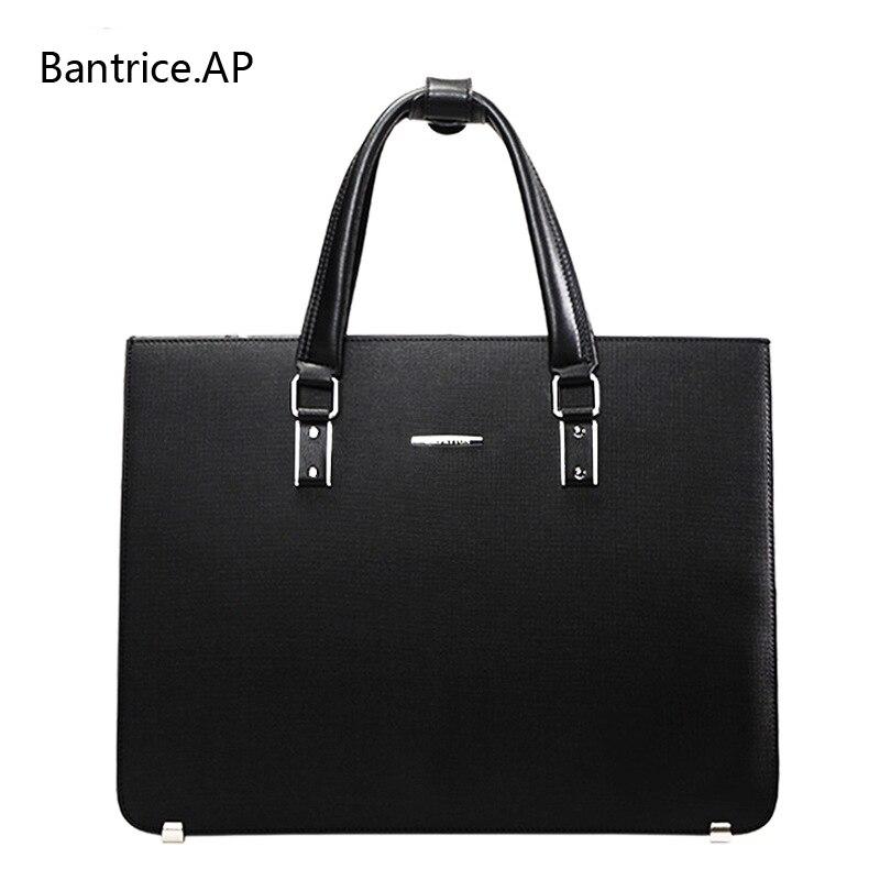 New Hochwertige Leder Männer Laptop Aktentasche Tasche 14 Zoll Computer Taschen Handtasche business-tasche Mode Laptop handtasche für männer