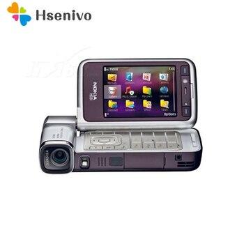 Перейти на Алиэкспресс и купить Восстановленный Оригинальный разблокированный сотовый телефон N93i Nokia N93i, Wi-Fi, 3G восстановленные телефоны, русская клавиатура, поддержка отр...