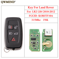 QWMEND 5Buttons Smart Remote key Fob For Land Rove KOBJTF10A 315/433Mhz Car Key For Land Rover LR2 LR4 2010 2012