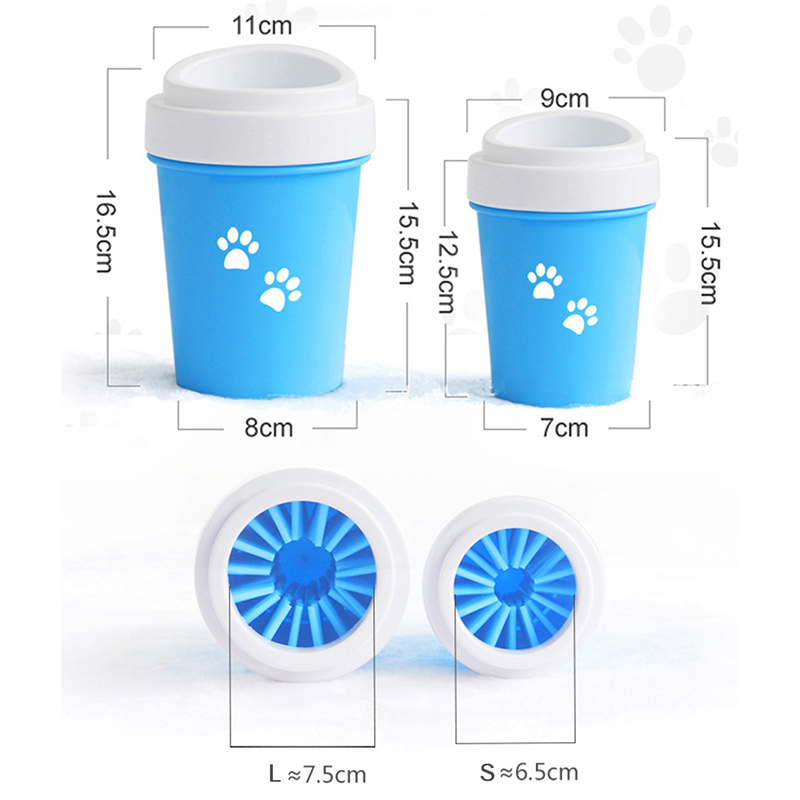 Dog Paw Cleaner Cup for Small Large Dogs Pet Feet Washer Portable Pet Cat Dirty Paw Cleaning Cup Soft Silicone Foot Wash Tool 4