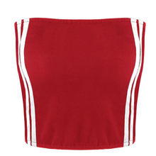 8ea9b002654 Sexy Tight Bandeau Wrap Crop Top Ladies Summer Side Striped Tube Top  Strapless Cropped Tops Women Underwear