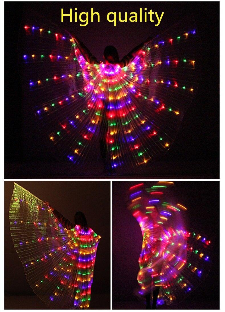 Светодио дный танец живота Isis с крыльями для танца живота аксессуары для танцев сценический реквизит крылья с Щупы для вечерние мангала Glow ...