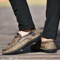 Men Casual shoes outdoor genuine Leather Loafers Men Shoes handmade sewing New Men Loafers Luxury Flats Shoes Male Chaussure L5