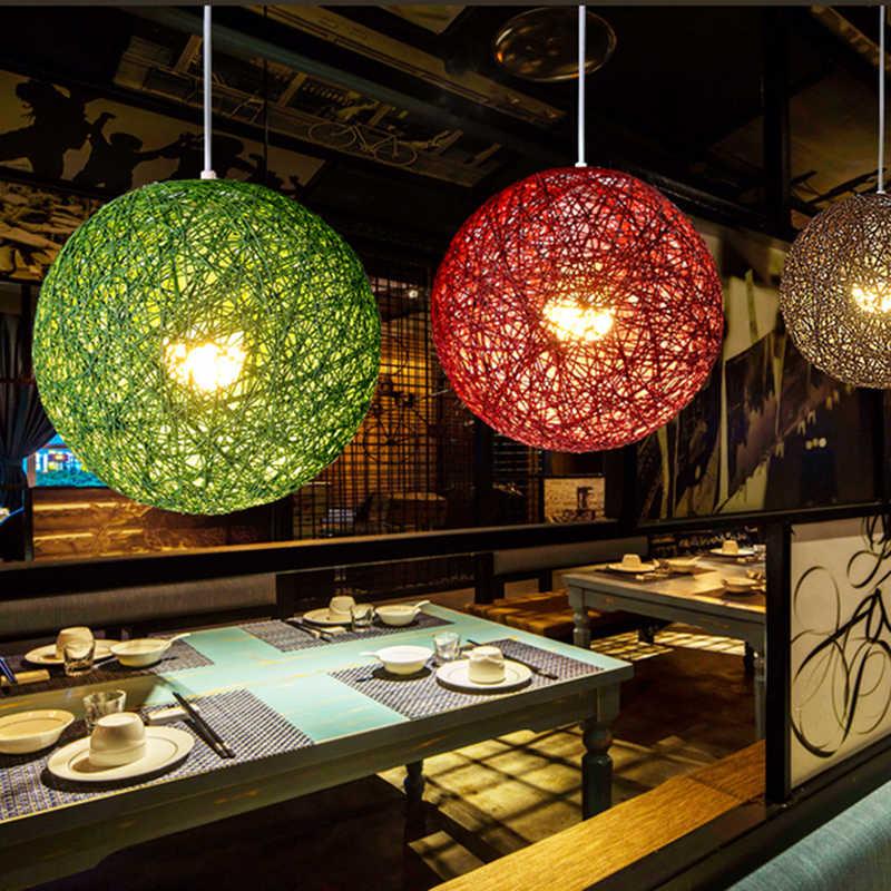 Современные скандинавские Красочные Подвесные светильники E27 светодиодный красочный шар креативные подвесные светильники для гостиной спальни ресторана отеля