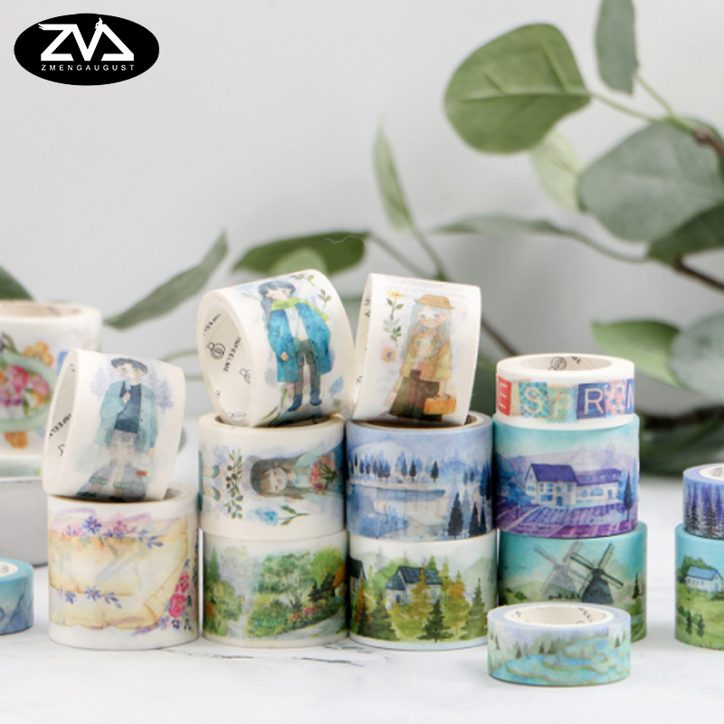 1X Midsummer Night's Dream Series Decorative Washi Tape DIY Scrapbooking Masking Tape School Office Supply Escolar Papelaria 1 5cm 5m star twigs gold silver washi tape diy scrapbooking masking tape school office supply escolar papelaria