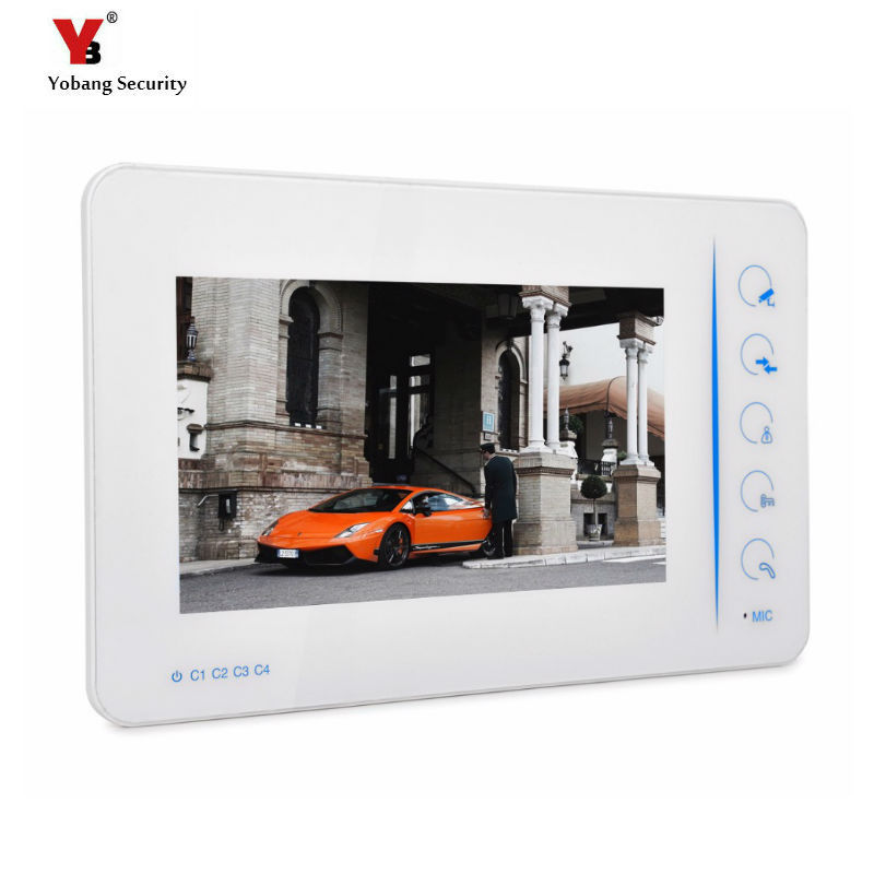 Yobang Security Touch keypad 7LCD Monitor for Video Intercom Doorphone Indoor Unit For Video Doorbell Door Intercom AccessoriesYobang Security Touch keypad 7LCD Monitor for Video Intercom Doorphone Indoor Unit For Video Doorbell Door Intercom Accessories