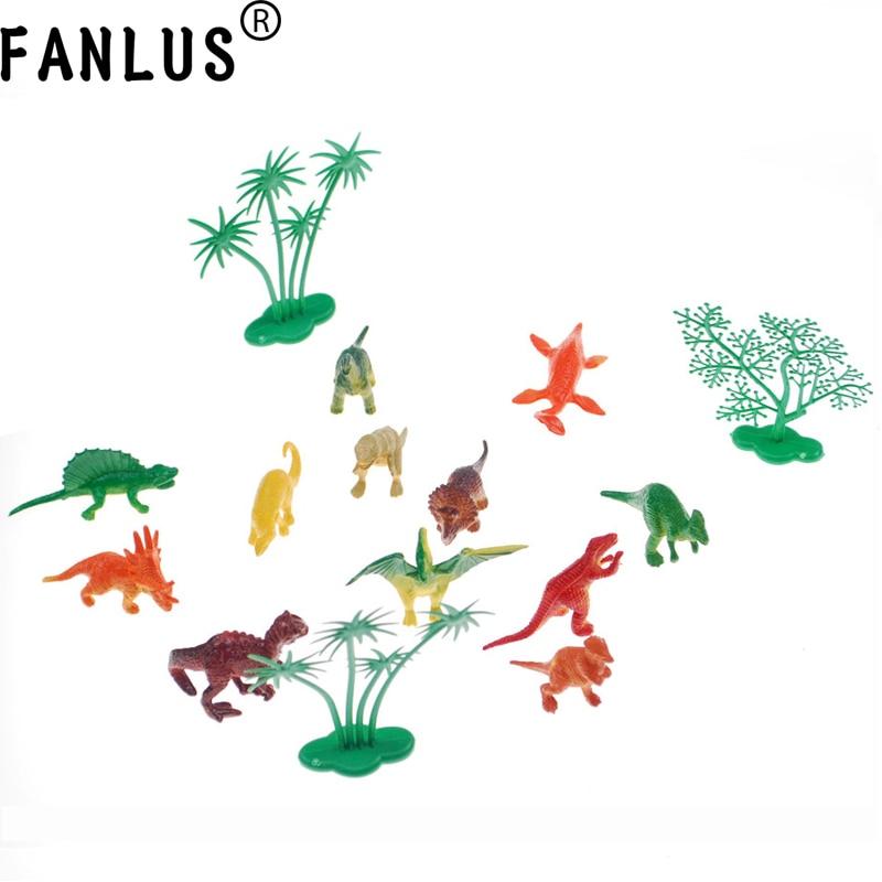 FANLUS Mini Dinosaurs Cake Decorating Supplies (12 Dinosaurios / 4 - Para fiestas y celebraciones