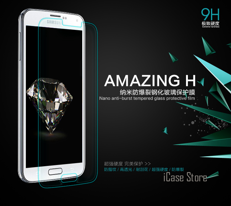 9H 0.26mm tempered glass For Samsung Galaxy S5 i9600 tempered glass screen protector pro ...