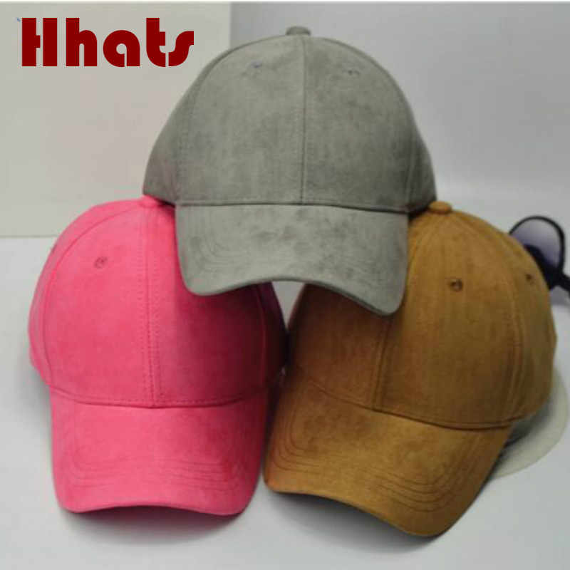 c4eba51953a which in shower solid women winter suede baseball cap hip hop adjustable  blank curved man cap casual female snapback hat bone