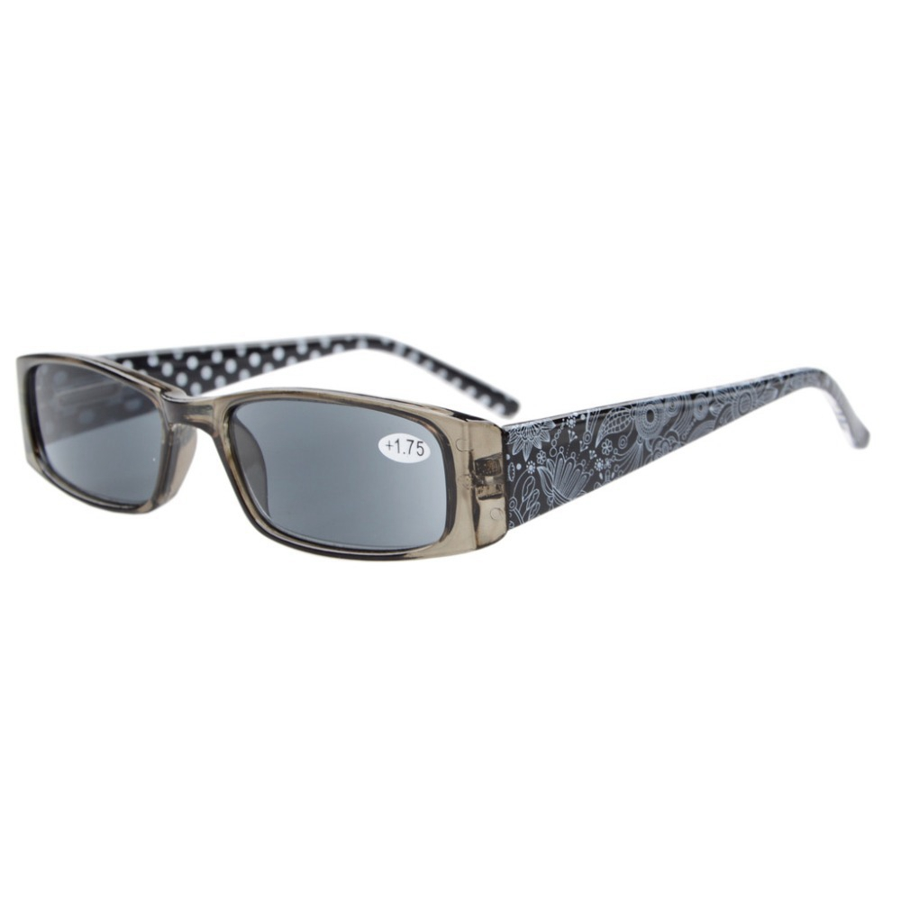 b31f26ffa2d R006P Spring Hinges Polka Dots Patterned Temples Rectangular Reading Glasses  +0.5 0.75 1.0 1.25 1.5 1.75 2 2.25 2.5 2.75 3 3.5 4-in Reading Glasses from  ...