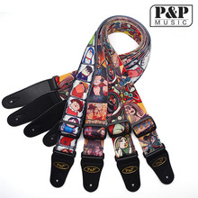 P&P guitar strap factory wholesale transfer guitar strap guitar strap personality Electric S008 62 65