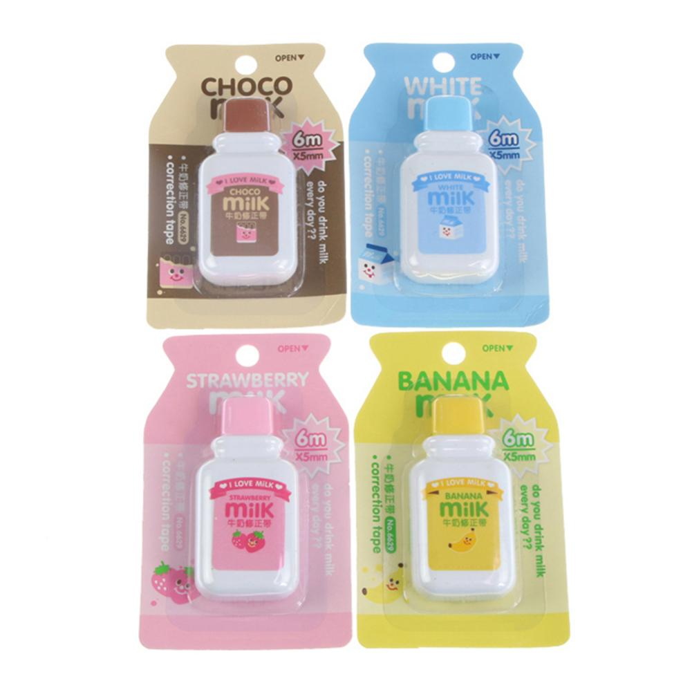 6mx5mm Cartoon Milk Bottle Style Correct Belt Correction Tape Student Officer Office School Supplies Stationery Correction Tape