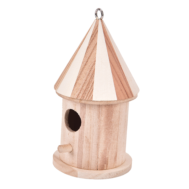 1 Pcs Wooden Birdhouse Hanging Nest Bird Nesting Boxes With Loop Bird Houses Pet Supply For Home Garden Yard Decoration