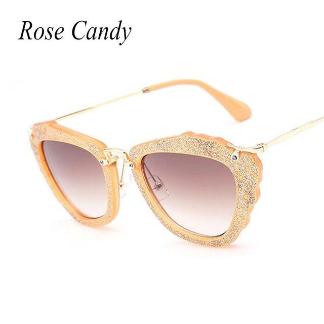 d3e8b6b8e2 Vintage Bling Bling Glitter Luxury Brand Designer Sunglasses Women Stylish  UV400 Sun Glasses Female UV400 Eyewear