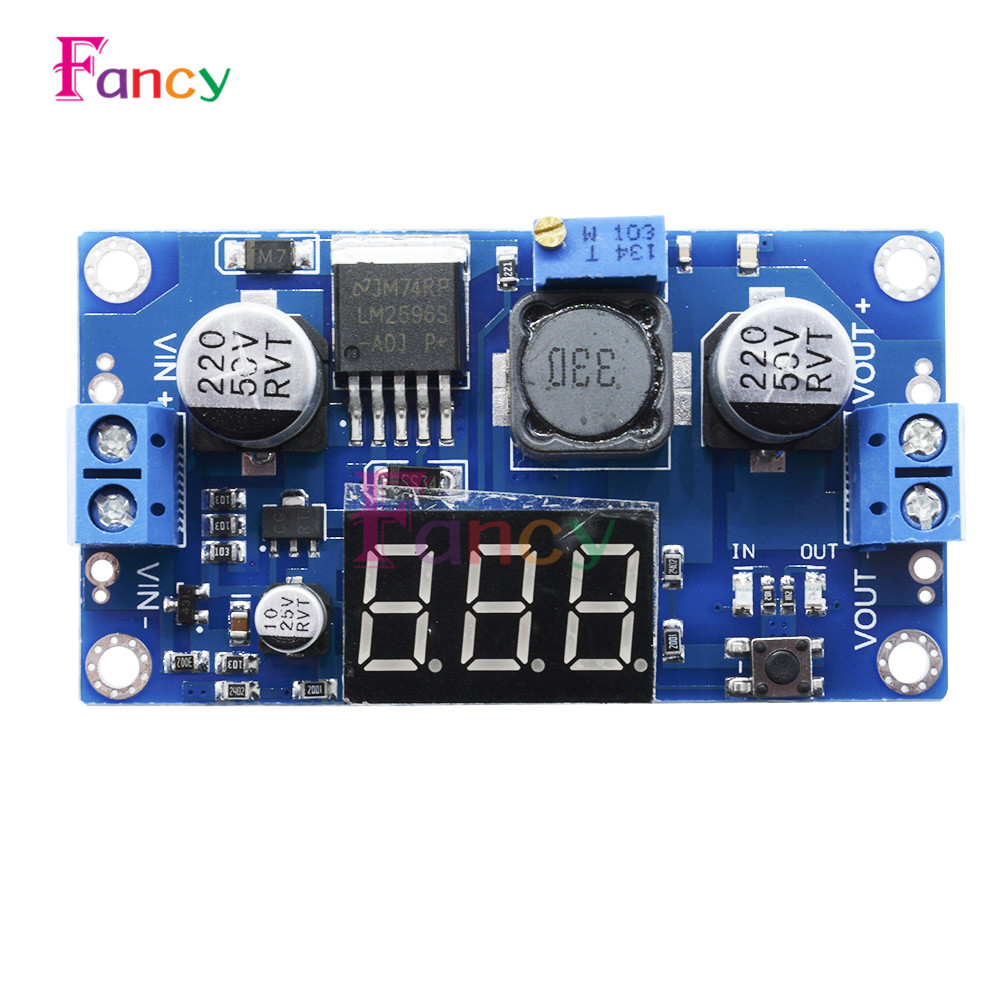 LM2596 LM2596S LED Digital Display Voltmeter DC-DC Step Down Adjustable Power Supply Module for Arduino Diy Kit