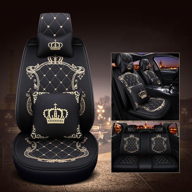 WLMWL housse de siège de voiture universelle en cuir pour MG tous les modèles MG7 MG5 MG6 MG3 ZS accessoire de voiture coussin auto
