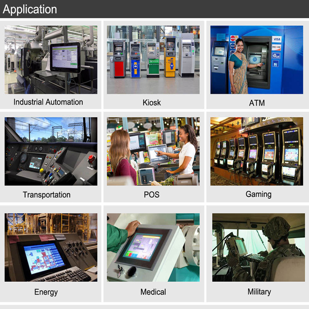 "Image 5 - 10.1"" touch screen industrial Panel pc with 2 lan RJ45 tablet pc intel processor mini pc support wifi SIM for industrial control-in Mini PC from Computer & Office"
