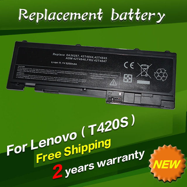 JIGU 5200mah Laptop Battery For Lenovo 0A36287 42T4845 ASM 42T4846 FRU 42T4847 ThinkPad T420s T420si 4171-A13