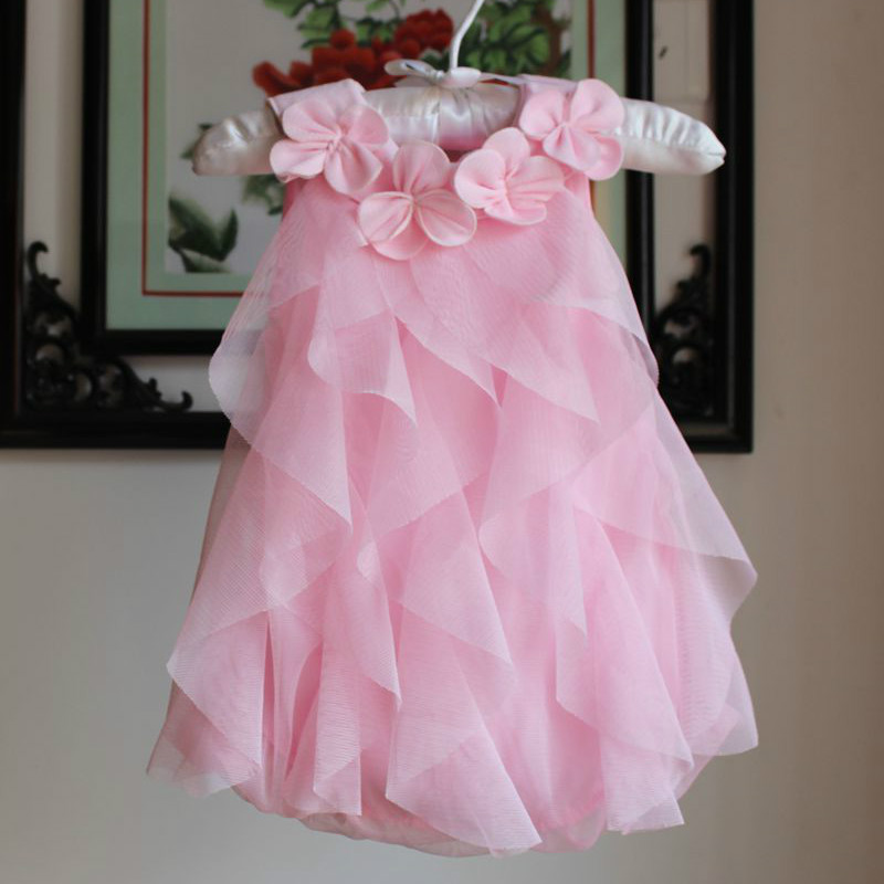 2017 New Baby Infant Girl Summer Romper Dress Completo di 100 giorni Old Dresses per Toddler Girls 1 Years Birthday Party Vestido DRE017