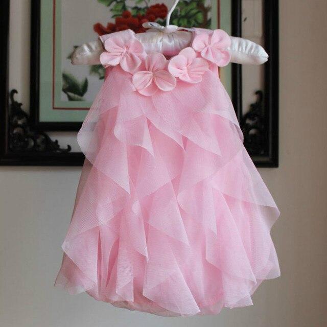 2017 New Baby Infant Girl Summer Romper Dress Full 100 Days Old Dresses for Toddler Girls 1 Years Birthday Party Vestido DRE017