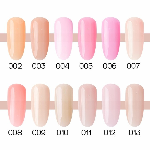 1pc UV LED Clear Pink Nude Camouflage Milky Bond Base Builder Multi-function Nail Extension Gel Nail Polish 10ml
